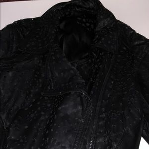 Blank NYC perforated faux leather jacket